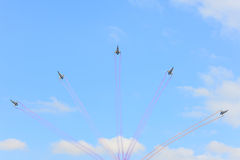 NAKHON RATCHASIMA 27 NOVEMBER :The display of aerobatics shared Stock Photos
