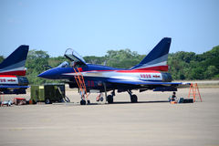 NAKHON RATCHASIMA 27 NOVEMBER :The display of aerobatics shared Royalty Free Stock Images