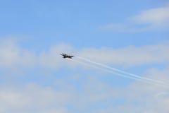NAKHON RATCHASIMA 27 NOVEMBER :The display of aerobatics shared Stock Photo