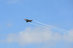 NAKHON RATCHASIMA 27 NOVEMBER :The display of aerobatics shared Stock Photo