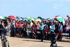 NAKHON RATCHASIMA 27 NOVEMBRE : L'affichage des acrobaties aériennes partagées Photographie stock