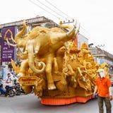NAKHON RATCHASIMA, TAILÂNDIA - 12 DE JULHO: A vela tradicional p Fotos de Stock Royalty Free
