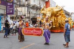 NAKHON RATCHASIMA, TAILÂNDIA - 12 DE JULHO: A vela tradicional p Fotos de Stock