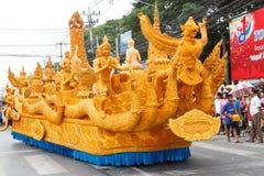 NAKHON RATCHASIMA, TAILÂNDIA - 12 DE JULHO: A vela tradicional p Imagem de Stock