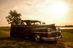 Nakhon Ratchasima, TAILÂNDIA - 13 de junho: Carro retro do vintage de Desoto Imagem de Stock Royalty Free