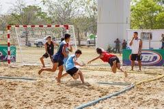 Nakhon Ratchasima, Tailândia - janeiro, 24o, 2017: Praia Handbal Foto de Stock