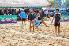 Nakhon Ratchasima, Tailândia - janeiro, 24o, 2017: Praia Handbal Imagem de Stock