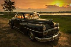 Nakhon Ratchasima, TAILANDIA - 13 de junio: El coche Desoto del vintage es a Fotos de archivo