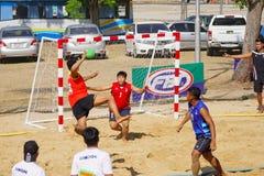Nakhon Ratchasima, Thailand - Januari dertigste, 2017: Strand Handbal stock afbeeldingen