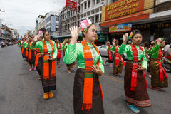 NAKHON RATCHASIMA, THAILAND - JULY 12 : Unidentified dancers per Stock Images