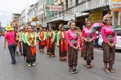 NAKHON RATCHASIMA, THAILAND - JULY 12 : Unidentified dancers per Royalty Free Stock Photo