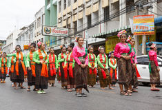 NAKHON RATCHASIMA, THAILAND - JULY 12 : Unidentified dancers per Stock Photo