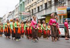 NAKHON RATCHASIMA, THAILAND - JULY 12 : Unidentified dancers per Stock Photo