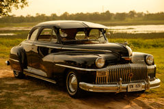 Nakhon Ratchasima, THAILAND - JUNE 13 : Vintage car Desoto is a. Rare old car in the 1948 season. on JUNE 13, 2016 in Nakhon Ratchasima Thailand. is Editorial Stock Image