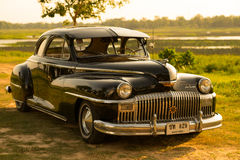 Nakhon Ratchasima, THAILAND - JUNE 13 : Vintage car Desoto is a. Rare old car in the 1948 season. on JUNE 13, 2016 in Nakhon Ratchasima Thailand. is Editorial Stock Images
