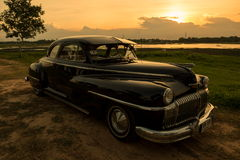 Nakhon Ratchasima, THAILAND - JUNE 13 : Vintage car Desoto is a Royalty Free Stock Photos