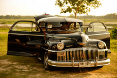 Nakhon Ratchasima, THAILAND - JUNE 13 : Vintage car Desoto is a. Rare old car in the 1948 season. on JUNE 13, 2016 in Nakhon Ratchasima Thailand. is Editorial Royalty Free Stock Photography