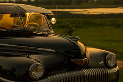 Nakhon Ratchasima, THAILAND - JUNE 13 : Vintage car Desoto is a. Rare old car in the 1948 season. on JUNE 13, 2016 in Nakhon Ratchasima Thailand. is Editorial Royalty Free Stock Photos