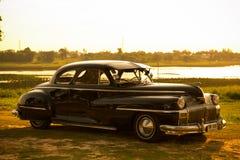 Nakhon Ratchasima, THAILAND - JUNI 13: De uitstekende auto Desoto is a Stock Afbeelding