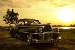 Nakhon Ratchasima, THAILAND - JUNI 13: De uitstekende auto Desoto is a Royalty-vrije Stock Fotografie