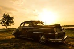 Nakhon Ratchasima, THAILAND - JUNI 13: Desoto retro uitstekende auto Stock Afbeeldingen