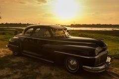 Nakhon Ratchasima, THAILAND - JUNI 13: Desoto retro uitstekende auto Royalty-vrije Stock Foto