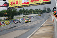 Car racing in Thailand Stock Images