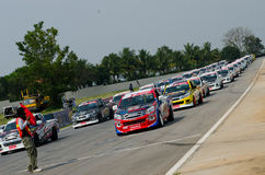 Car racing in Thailand Royalty Free Stock Images