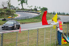 Car racing in Thailand Royalty Free Stock Photo