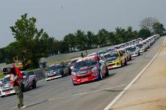 Bil som är tävlings- i Thailand Royaltyfria Bilder