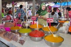 Nakhon Si Thammarat morning market Royalty Free Stock Image