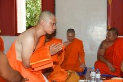 Nakhonnayok-Таиланд, 3-ье июля 2015: серия посвящения cer стоковое изображение