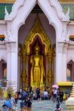NAKHONPATHOM, TAILÂNDIA, o 24 de setembro de 2017, Wat Phra Pathom Chedi Sanc imagens de stock
