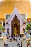 NAKHONPATHOM, TAILANDIA, il 24 settembre 2017, Wat Phra Pathom Chedi Sanc Fotografia Stock Libera da Diritti