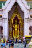 NAKHONPATHOM, TAJLANDIA, 24 2017 Sep, Wat Phra Pathom Chedi Sanc Obrazy Stock