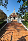 The Nakhonphanom City Pillar Shrine, Famous place to travel at Nakhonphanom, Thailand stock photography