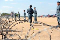 Nakhonratchasima,泰国2015年11月27日:战士篱芭  免版税库存照片