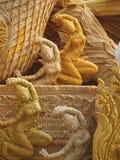 NAKHONRATCHASIMA, TAILANDIA - 19 DE JULIO: Cera de la vela que talla el ángel T Fotografía de archivo libre de regalías