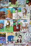 NAKHONRATCHASIMA TAJLANDIA, STYCZEŃ, - 5,2014: Zwierzęcy rysunek co Fotografia Royalty Free
