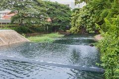 Nakhonratchasima, THAILAND - June 23, 2015 : Waste drainage on w Stock Photo