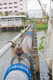 Nakhonratchasima, THAILAND - June 23, 2015 : Waste pipeline drai Stock Photo