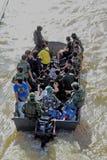 NAKHONSAWAN - 15 OTTOBRE: La gente che vive nell'area, ha un'alta inondazione Immagine Stock Libera da Diritti