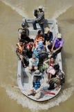 NAKHONSAWAN - 15 OTTOBRE: La gente che vive nell'area, ha un'alta inondazione Fotografie Stock Libere da Diritti