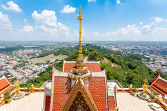 Nakhonsawan, Thailand. Bird view cityscape of Nakhonsawan, Thailand Royalty Free Stock Image