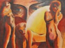 nakna kvinnor stock illustrationer