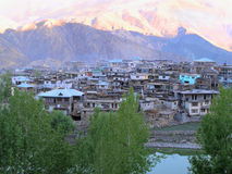 Nako village in Indian Himalayas in the evening time Royalty Free Stock Photo