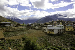 Nako wioska w ranku Zdjęcie Stock