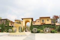 NAKORN RATCHASIMA THAILAND -2014 FEB 25 : Primo Piazza Khao Yai,Tuscana-village Italian style building Stock Image