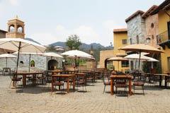 NAKORN RATCHASIMA THAILAND -2014 FEB 25 : Primo Piazza Khao Yai,Tuscana-village Italian style building Royalty Free Stock Images