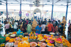 NAKORNPRATOM THAILAND - OCTOBER 23 : People praying buddha in te Stock Photos